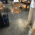 Close Up Flooding Warehouse